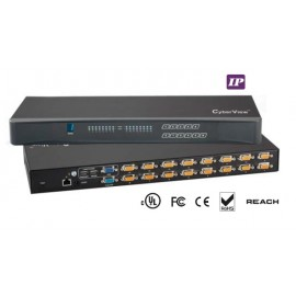 IP KVM Switch 16-port Combo DB-15