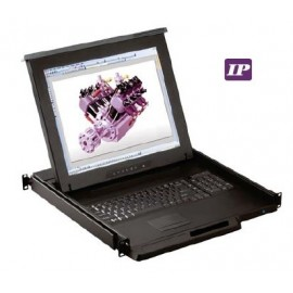 "17"" LCD Drawer  w/ 8-port  Combo DB-15 IP KVM"