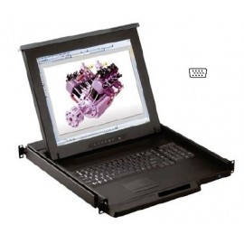 "17"" LCD KVM Drawer 8-port Combo DB-15 2-console"