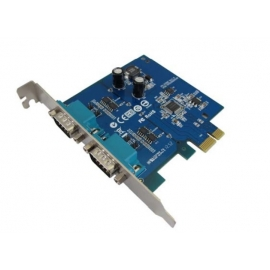 Industrial 2-port RS-422/485 with Surge PCI-Express Serial Card