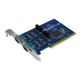 Industrial 2-port RS-422/485 Universal PCI Board with Surge & Isolation