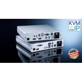 KVM Extender DisplayPort signal transmission over standard IP-based networks, CAT, layer 3