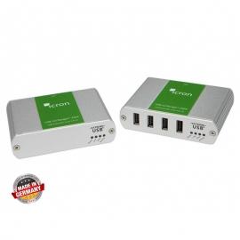 Transmission of USB signals over CAT or fibre