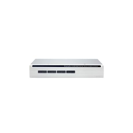4-Port DisplayPort USB KVM Switch w/ Audio, Mic & Hub