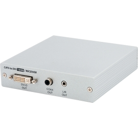 Dual CAT5e/6/7 to DVI Receiver up to 100 Meters