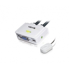 KVM Switch 2-Port VGA, USB, Audio with QuickSwitch