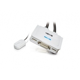 KVM Switch 2-Port DVI, USB, Audio with QuickSwitch