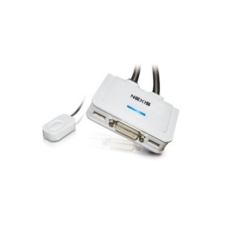 2-Port DVI USB Cable KVM Switch w/ Audio & Mic