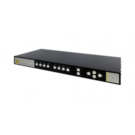 KVM Switch 4-Port 4K Quad-View HDMI 2.0 and USB Seamless