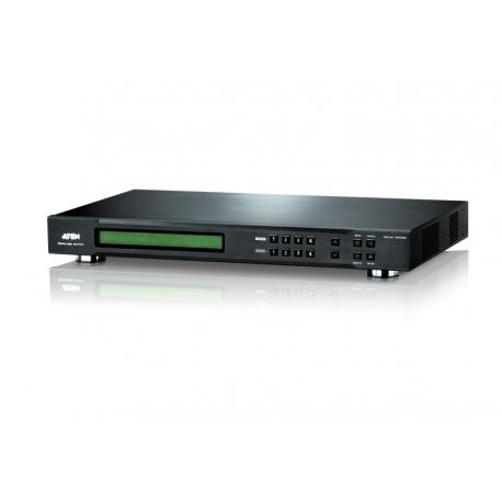 4 x 4 DVI Matrix Switch with Scaler
