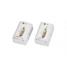 DVI/Audio Cat 5 Extender with MK Wall Plate