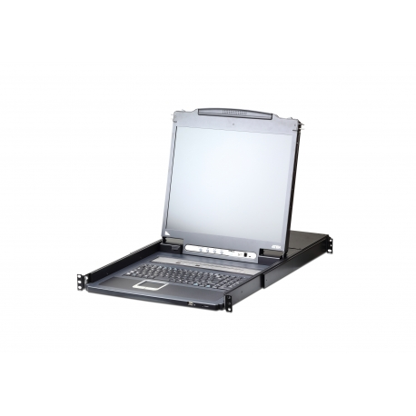 16-Port PS/2-USB VGA LCD 19 inch + KVM over IP Switch with Daisy-Chain Port and USB Peripheral Support