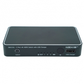 3x1 HDMI2.0 switch with USB CHARGE