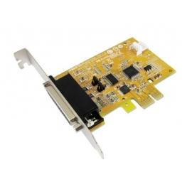 1-port High Speed RS-232 with Power Output & 1-port Parallel PCI Express Multi-I/O Board