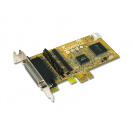 4-port RS-232 with Power Output & Cash Drawer interface & DC Jack Low Profile PCI Express Board