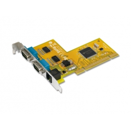 2-port RS-232 & Cash Drawer interface Universal PCI Serial Board