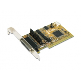 4-port RS-232 with Power Output & Cash Drawer interface & DC Jack Universal PCI Serial Board