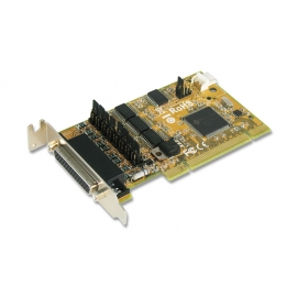 4-port RS-232 with Power Output & Cash Drawer interface & DC Jack Low Profile Universal PCI Board