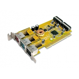 1-port 24V & 1-port 12V & 1-port 5V Powered USB PCI Low Profile Add-On Card