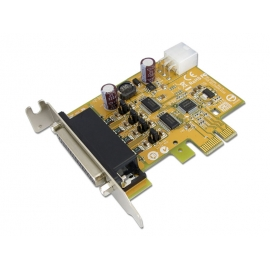 2-port RS-232 PCI Express Powered Serial Board