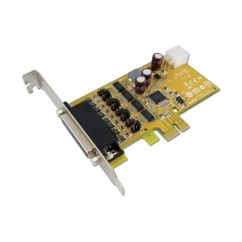 4-port RS-232 PCI Express Powered Serial Board