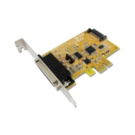 1-port RS-232 with Power Output & 1-port Parallel PCI Express Multi-I/O Board