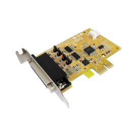 2-port RS-232 with Power Output & 1-port Parallel PCI Express Multi-I/O Low Profile Board