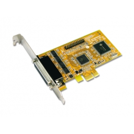 4-port RS-232 & 1-port Parallel PCI Express Multi-I/O Board