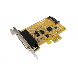 1-port RS-232 with Power Output & 1-port Parallel PCI Express Multi-I/O Low Profile Board