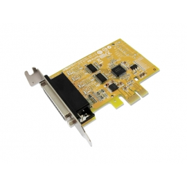 2-port RS-232 & 1-port Parallel PCI Express Low Profile Multi-I/O Board