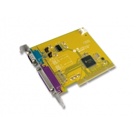1-port RS-232 & 1-port Parallel Universal PCI Multi-I/O Board With Power Output over Serial
