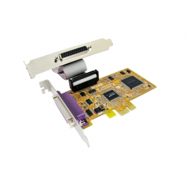 2-port IEEE1284 Parallel PCI Express Low Profile Board