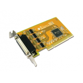 4-port RS-232 High Speed Low Profile Universal PCI Serial Board