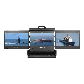 "4K 17"" Triple display console drawer"