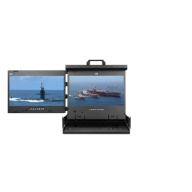 "4K 17"" Dual display console drawer (LH mounted)"