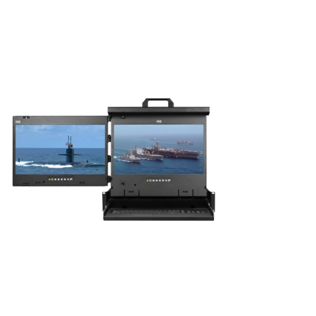 "4K 17"" Dual display console drawer (LH mounted)"
