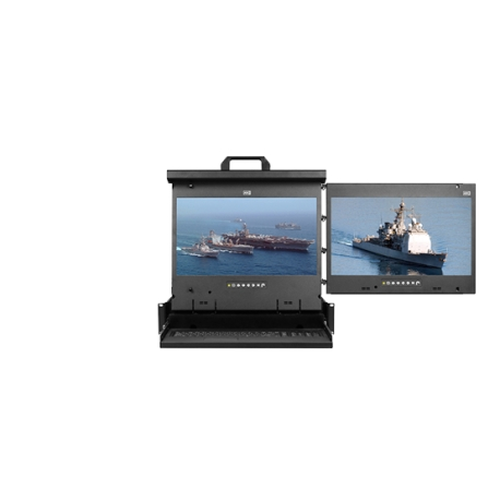 "Full HD 17"" Dual display console drawer (RH mounted)"