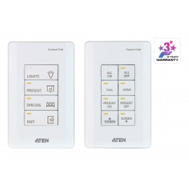 ATEN Control System - 8-button Meeting Room Control Pad (US, 1 Gang)