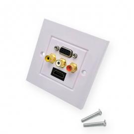 HDMI ( L type ) , VGA , AV (RCA) WALL PLATE