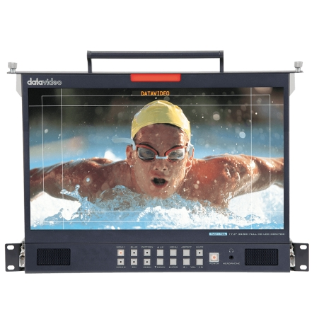 "17.3"" 3G-SDI FULL HD LCD Monitor - 1U Foldable Rackmount Tray Unit"