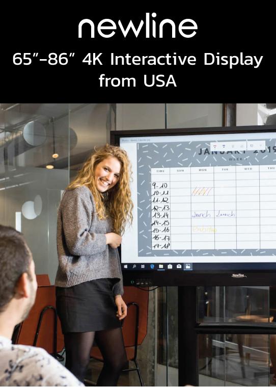 จอ 65-86 นิ้ว 4K interactive display จาก USA
