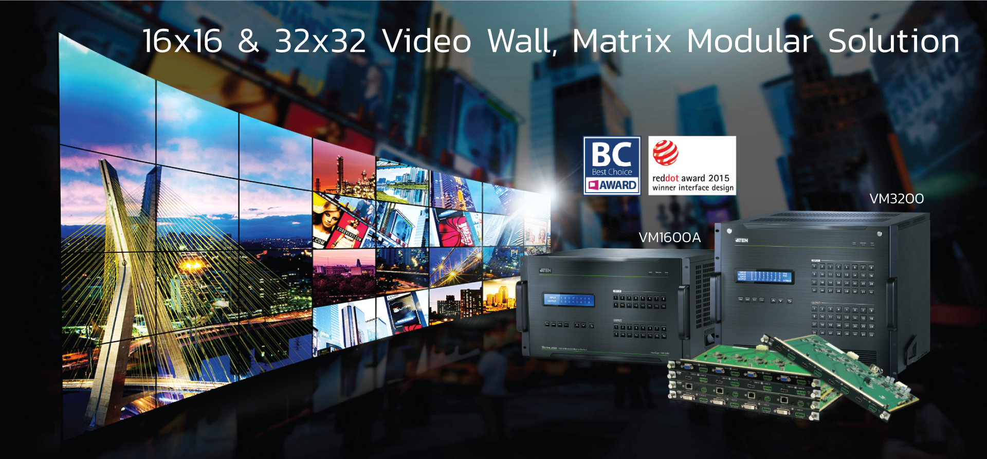 Video wall & modular Matrix solution