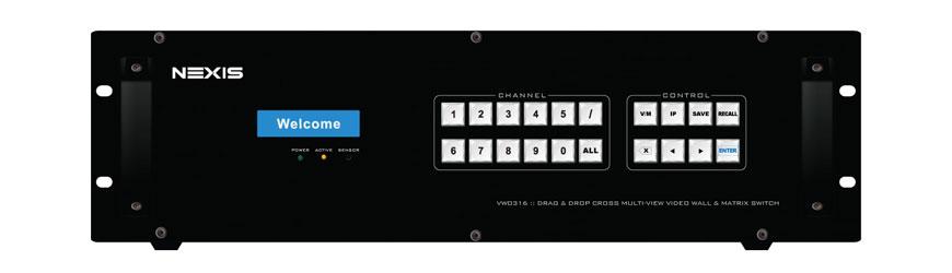 vw8316 nexis video wall controller